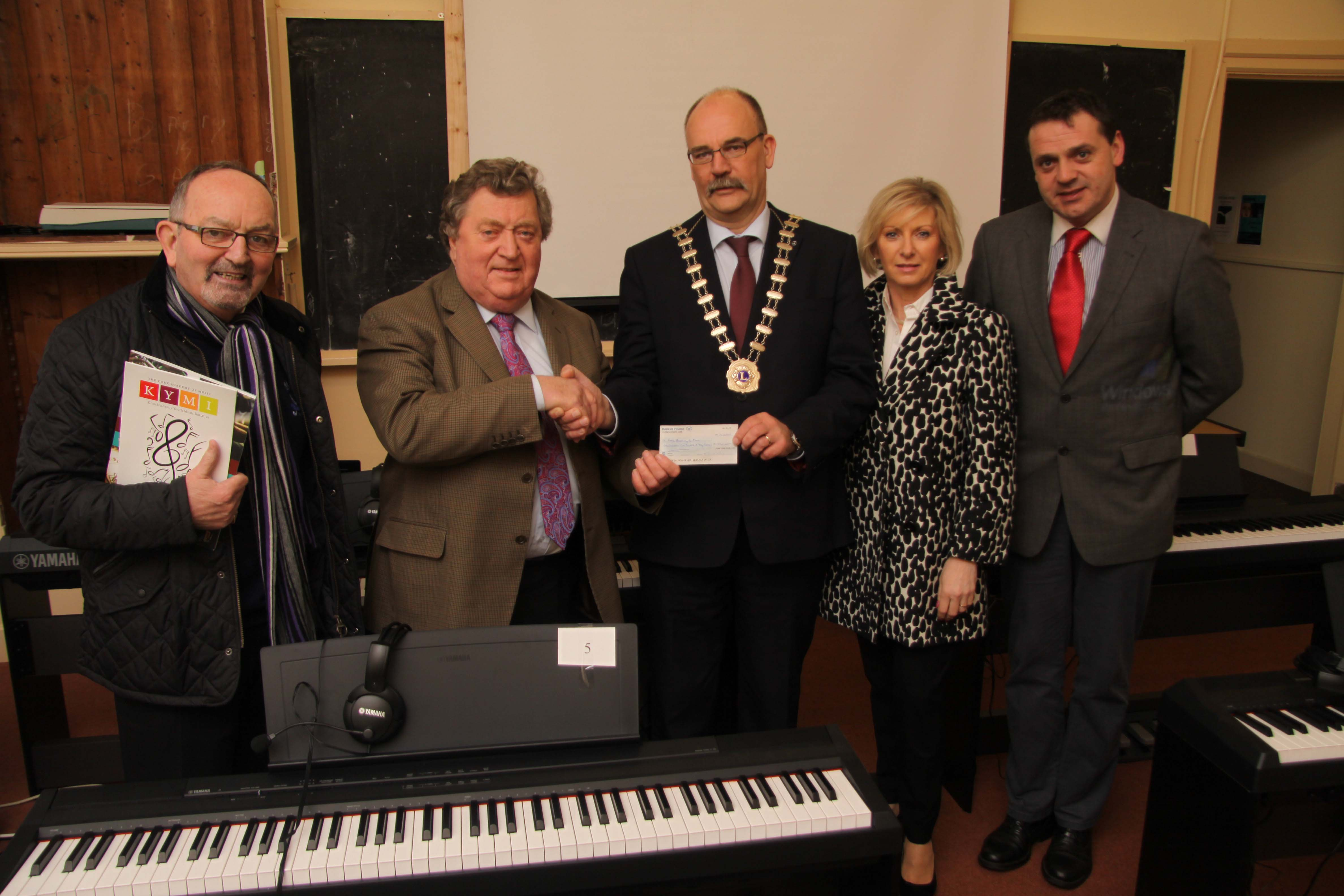 Cork Academy of Music Cheque Presentation